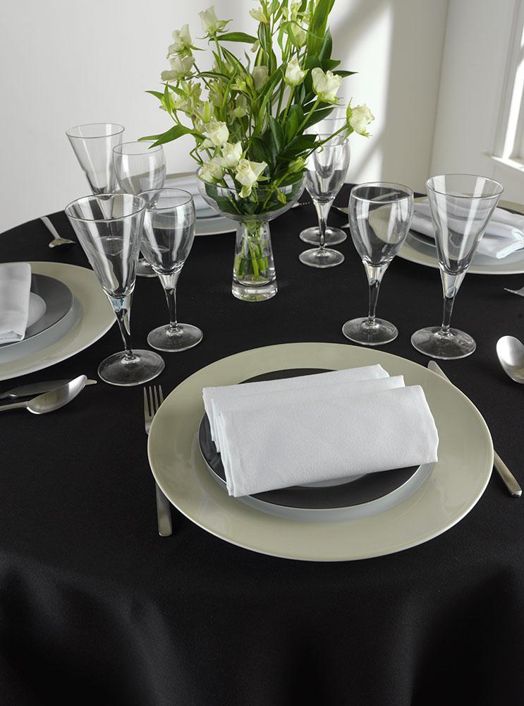 Kudos Plain Polyester Table Linen Wide Colour Range Available