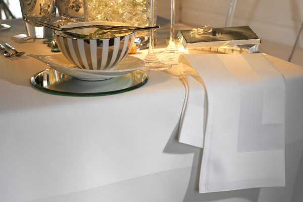 Superior Satin Band Cotton Table Linen